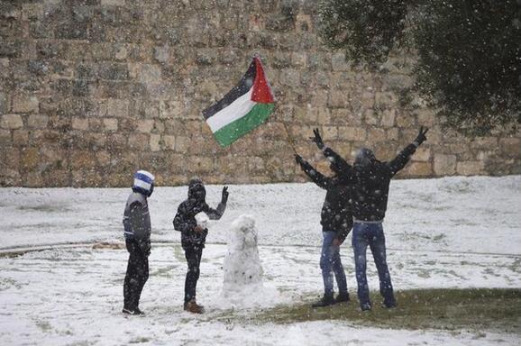 שלג במזרח ירושלים. מגבלות תנועה