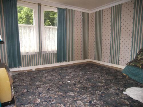 החדר של לילה, לפני. שימו לב לשטיח